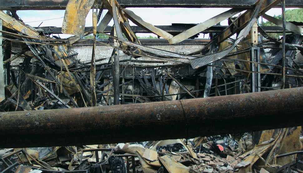 Fire damage in Airedale UK facility