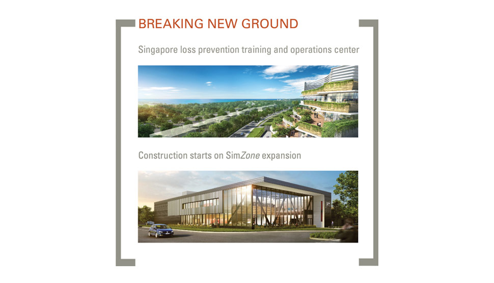 2016 FM Global Annual Report Singapore Groundbreaking graphic