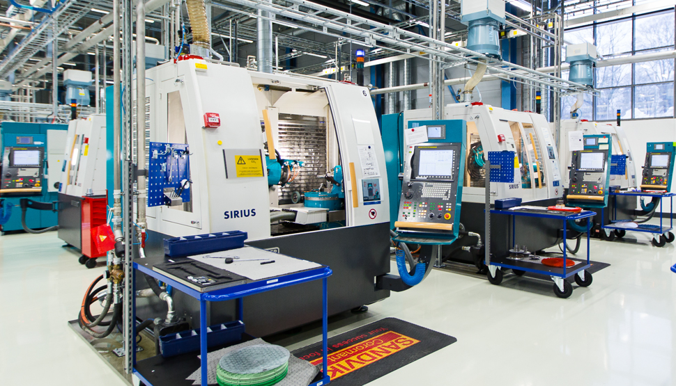 Manufacturing floor at Sandvik Coromant